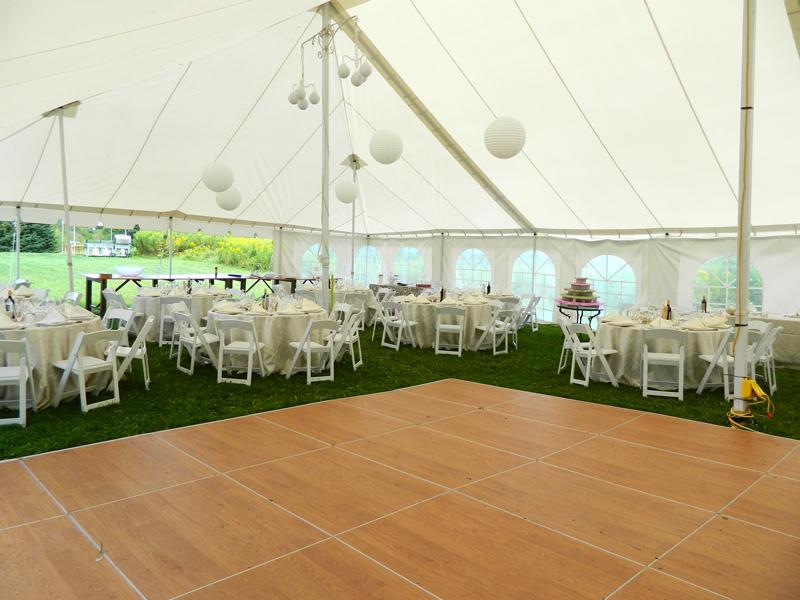 Nov 15 Dance floor under tent